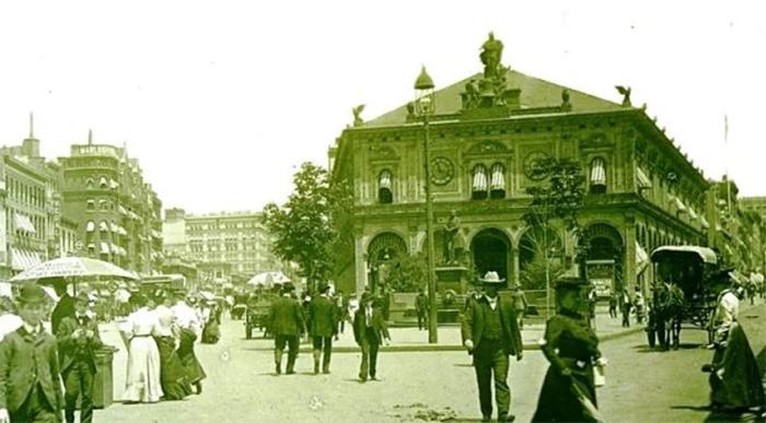 Здание отеля, где проживала Ида Вуд. Фото ок. 1895 г.